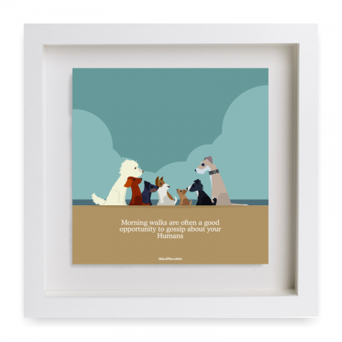 all dogs print - framed